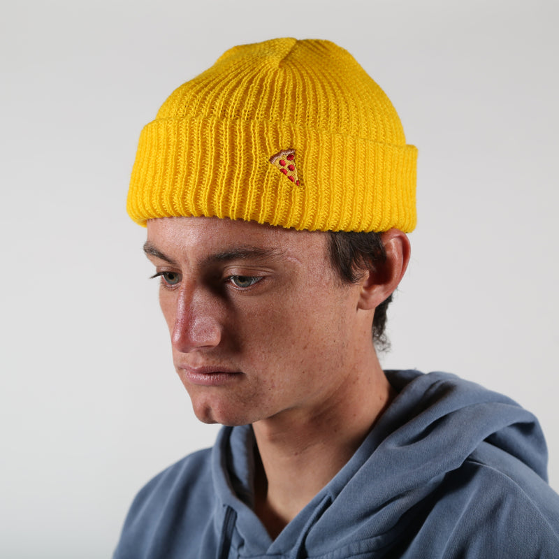 Emoji Beanie Yellow - PIZZA SKATEBOARDS