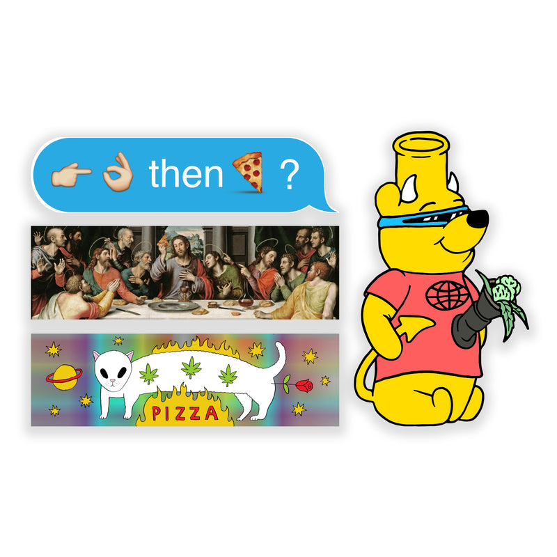 Pizza Sticker Pack 2 - PIZZA SKATEBOARDS