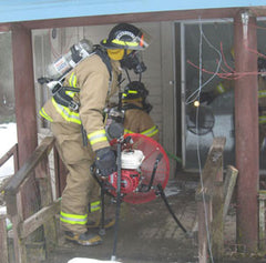 Photo of ventilation training by volunteer fire department in Hauser, Idaho
