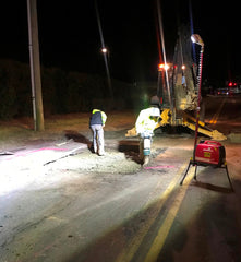 Lentry Light System 2SPECX lighting road work at night