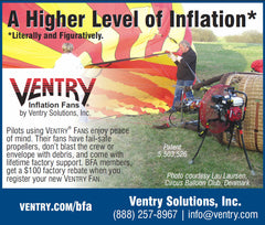 Inflation Fan ad in Ballooning magazine (2017)