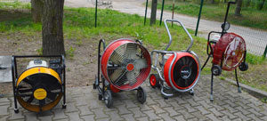 conventional blowers (turbo, traditional) along with Ventry Fans (propeller, all-terrain), courtesy of Szymon Kokot-Gorá