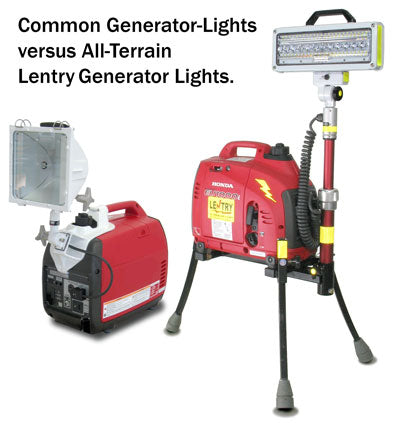 generator with a light kit compared to an all-terrain Lentry® Generator Light