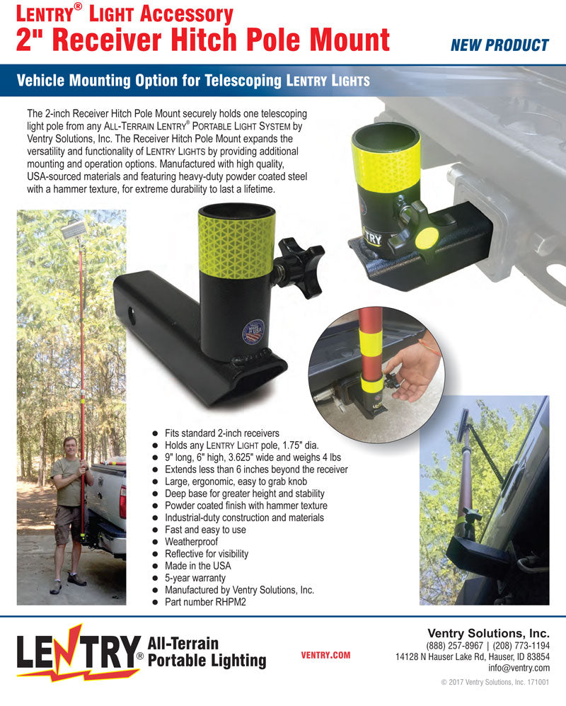 flyer thumbnail for Receiver Hitch Pole Mount