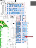 The Utility Expo 2021 map showing Ventry Solutions' booth position
