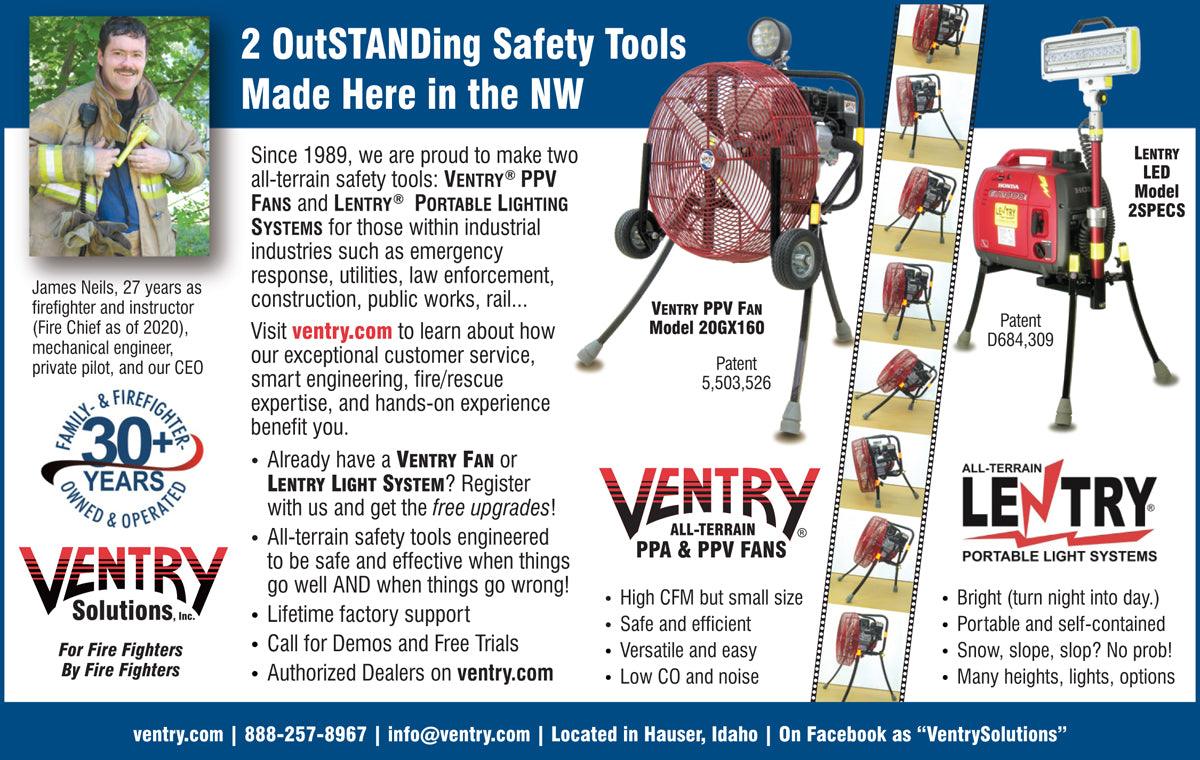 All-Terrain Fans and Lights, two outSTANDing safety tools, made in the Great NorthWest