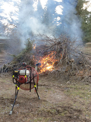 brush burning with a Ventry Fan