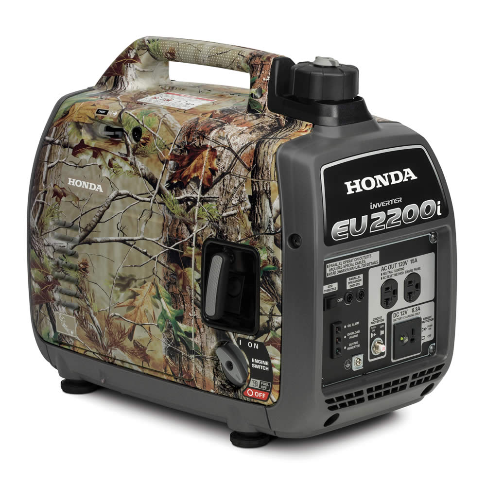 Honda EU2200i Camo generator was 2000W and is now 2200W