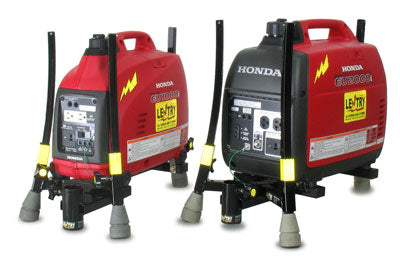 1000W and 2000W generator lights, ready for lights, with Honda EU1000i and EU2000i generators.