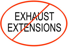 Just say No to an exhaust extension on your PPV fan!