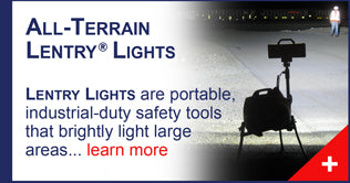 All-terrain Lentry Portable Scene Lighting Light Towers, made by Ventry Solutions.