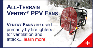 All-Terrain Ventry Positive Pressure Ventilation (PPV) Fans, manufactured by Ventry Solutions.