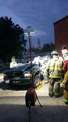 A Lentry Light allows everyone to be safe while performing extrication training in the evening.