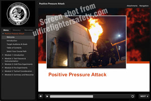 Positive Pressure Ventilation and Attack training (PPV and PPA) online course for firefighters by UL FSRI