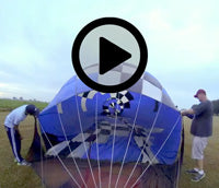 (New window, YouTube) Hot air ballooning video starts with envelope inflation with 20GX120 Ventry Inflation Fan
