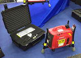Portable generator-light-LED system 1SPECS-C with case, stowed