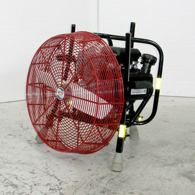 20-inch Ventry PPV Fan 20GC160 with legs retracted, facing left