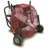 Ventry 20-inch PPV Fan with Medium Flat-Free Wheels & Skids and its legs retracted (model 20GX120).