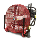 Ventry 20-inch PPV Fan with Solid Rubber Wheels & Skids and its legs retracted (model 20GX120).