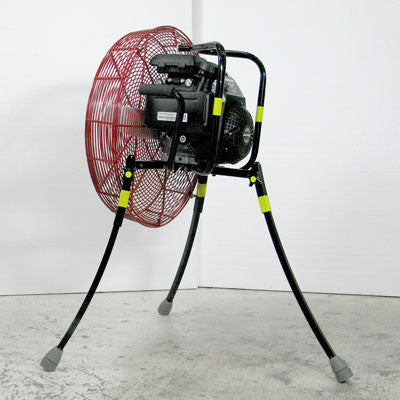 24-inch Ventry PPV Fan 24GC160 with legs extended, facing left, rear view