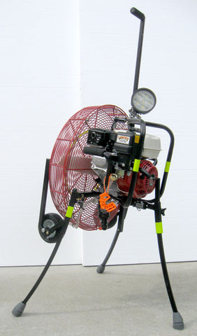 Rear view PPV fan 24GX160 with accessories