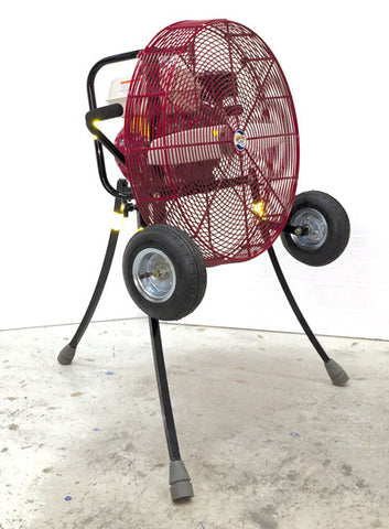 24-inch Ventry PPV Fan with Pneumatic Tires, legs extended, facing right