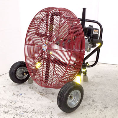 24-inch Ventry PPV Fan with Pneumatic Tires, legs retracted, facing left