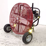 24-inch Ventry PPV 24GX160 Fan with Pneumatic Tires, legs retracted