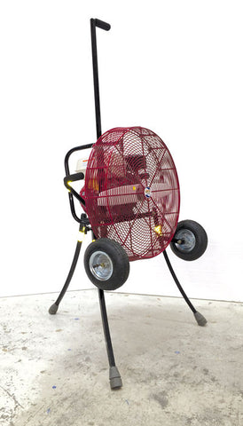 24-inch Ventry PPV Fan with Pneumatic Tires, legs & verticle tow handle extended