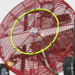 Ventry brand Cooling Misting Ring Kit shown on a 24-inch ppv fan.