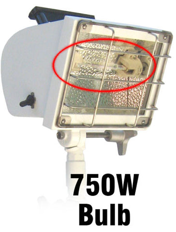 Utilizes the 750W bulb