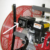 Installation of spark arrester on a VENTRY Fan