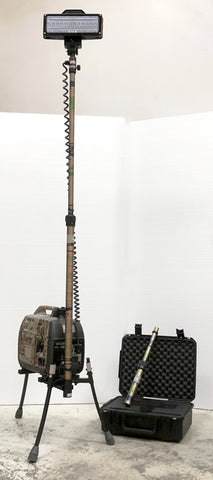 Portable Camo Lentry Light with XT pole installed