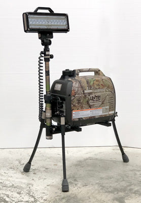 Portable Camo Lentry Light shown with standard/short telescoping pole