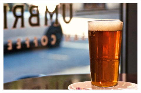 Gusto Crema Coffee Ale on tap at Pioneer Square and Ballard cafés