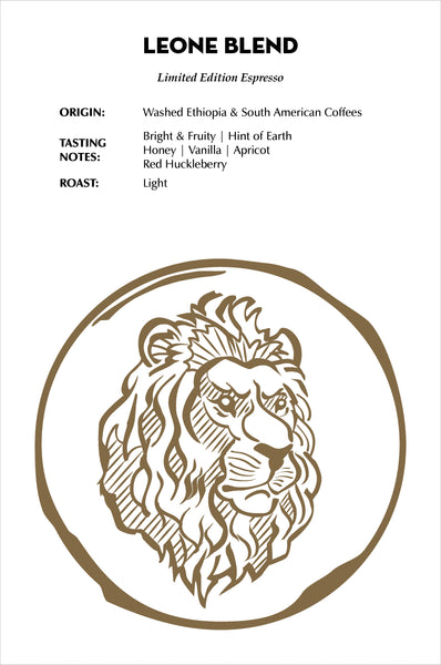 Leone Blend Tasting Notes - Light Roast Limited Edition Espresso