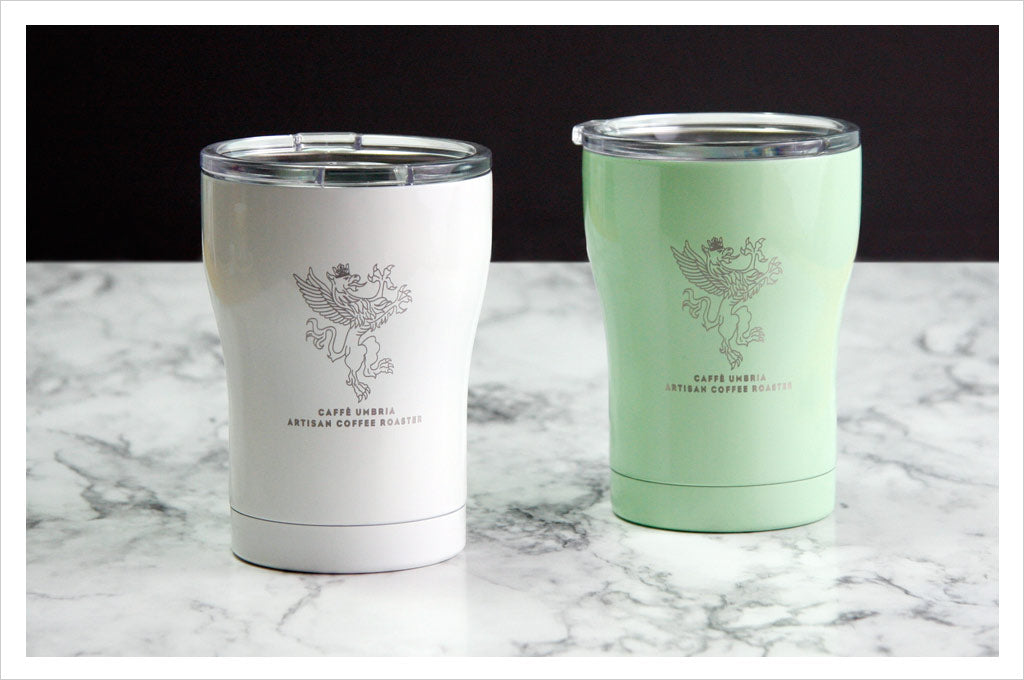 12oz SIC tumbler in white or mint green