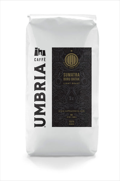 Barrel Aged Sumatra at Caffe Umbria
