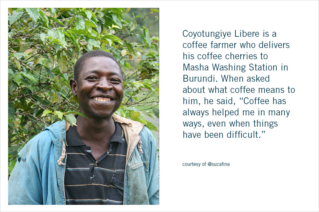 Burundi Masha single origin coffee - farmer story