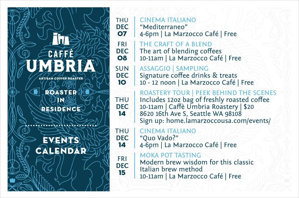 La Marzocco Roaster in Residence Events during December 2017