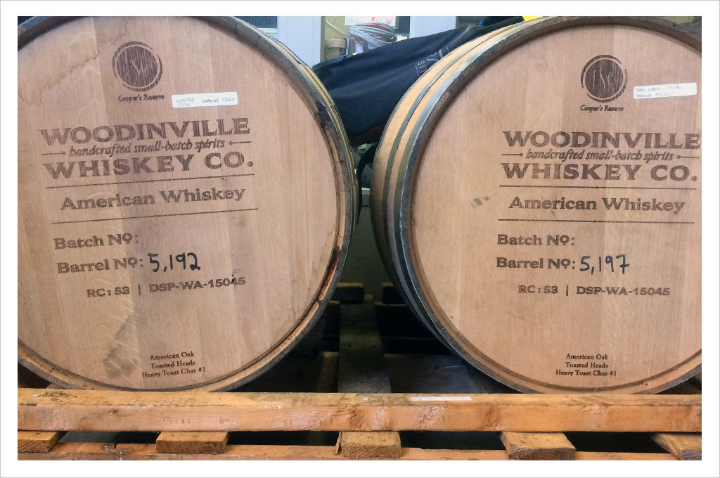 Whiskey barrels used for Barrel Aged Sumatra
