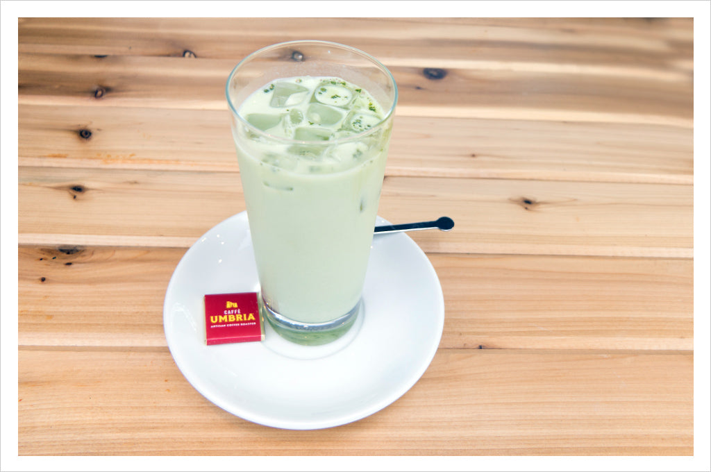 Iced Matcha Latte, available at all Caffè Umbria cafés