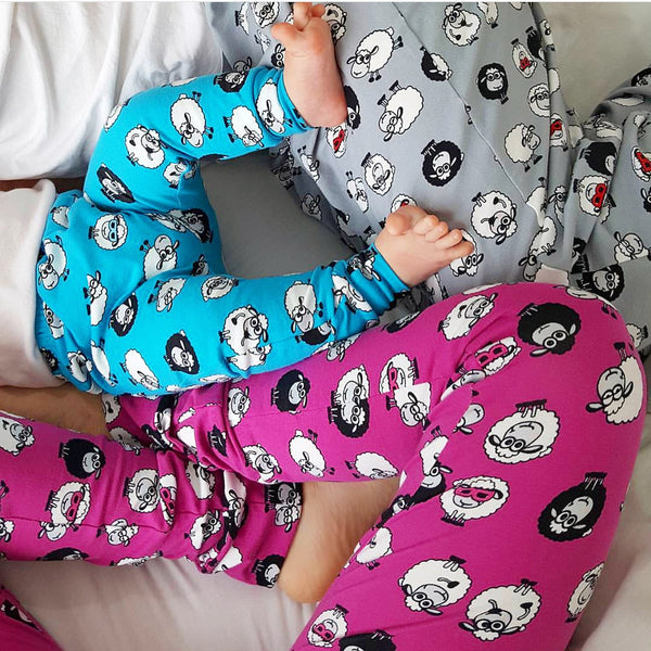 Blue Shaun the Cool Sheep Handmade Leggings
