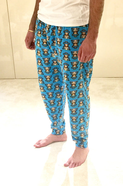Baby Brain Blue Cloud Adult Cuffed Lounge Pants