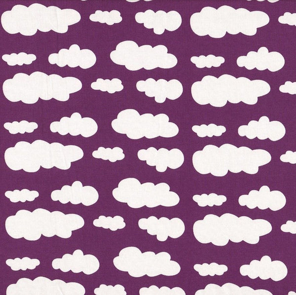 Baby and Toddler #AYearForACure Unisex Purple Clouds Handmade Charity Leggings
