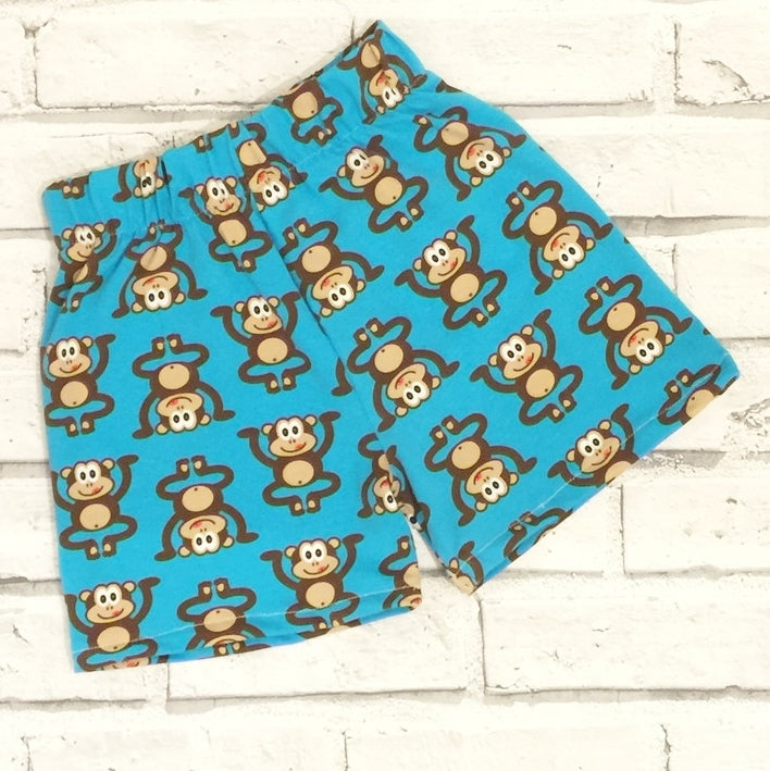 Blue Marvin the Cheeky Monkey Baby & Toddler Shorts