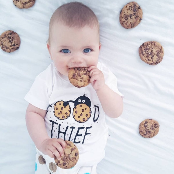 'Food Thief' Unisex Baby & Toddler Tee