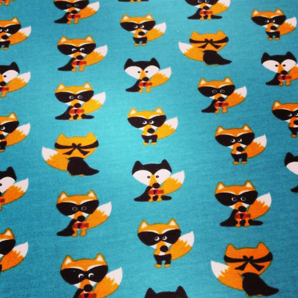 Unisex Baby and Toddler Blue Superhero Fox Handmade Leggings