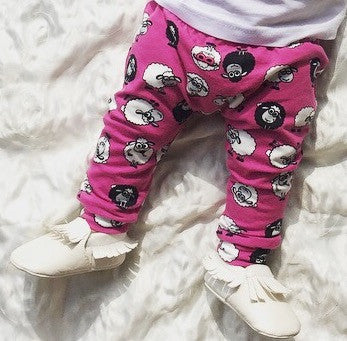 Pink Shaun the Cool Sheep Handmade Leggings