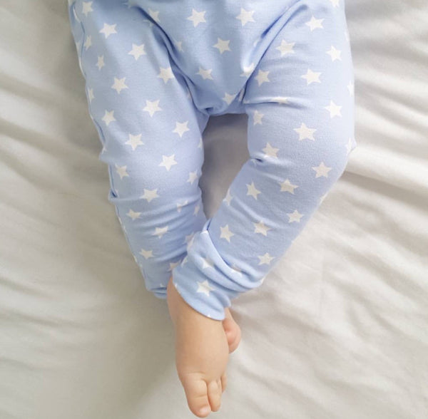 Baby Blue Star Handmade Leggings